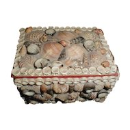 Lovely 1960's Seashell Trinket Box