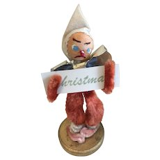 Vintage Christmas Ornament, Wizard, Japan