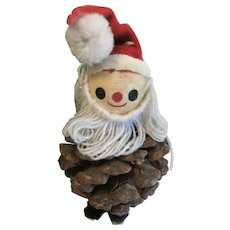 Vintage Christmas Decoration, Pinecone Santa Claus