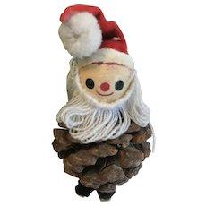 Vintage Christmas Decoration, Pinecone Santa Claus
