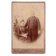 Cabinet Photo of Stately Man & Woman Milton G. Wilde Blackpool
