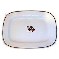 Very Large 19th C. White Ironstone Platter, Tea Leaf, Wilkinson