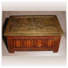 British Biscuit Tin, 1929, Jacobean Log Box, Jacob & Co. (2 avail)