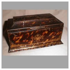 Lovely Wm. Crawford Biscuit Tin, TORTOISESHELL, 1910