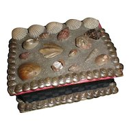 Lovely Small Victorian Shell Work Trinket Box
