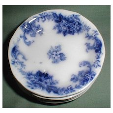 Lovely Flow Blue Butterpat ELSIE New Wharf Pottery