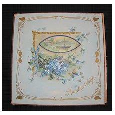 Lovely Lithographed Handkerchief Folder, Aesthetic Design