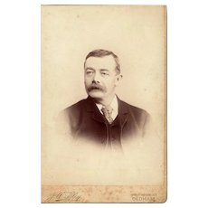 Cabinet Card Photograph of Gentleman with Mustache