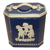 Vintage British Biscuit Tin Huntley & Palmers Wedgwood Jasperware