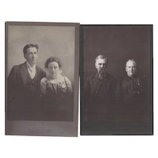 Pair of Cabinet Photographs, Couples