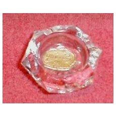 Hexagon Glass Salt Dip (Open Salt) Bohemia Glass