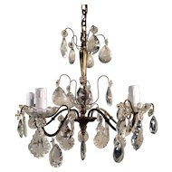 Splendid French Antique Chateau Chandelier Lustre Light Fitting Crystal Pampille Circa 1880