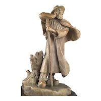 Genuine French Antique Royal Manufactory Sevres Stoneware Gres Sculpture Statue Signed D.Vincent Circa 1906