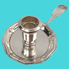 Antique French Christofle Gallia Silver Plated Candlestick Candle Holder, 20th Century