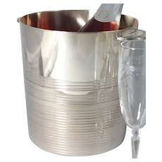 French Ercuis Art Deco Silver Plate Champagne Wine Ice Bucket
