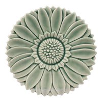 Lovely French Antique Flower Daisy Shape Majolica Plate 19th Century