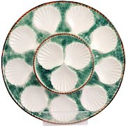 Wonderful Vintage French Longchamp Majolica Oyster Platter