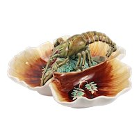 Fabulous French Antique Choisy Le Roi Majolica Trilobal Platter Faience in High Relief Circa 1878