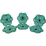 Paris Six Vintage Green Majolica Oyster Plate Signed Guillot Marcel Circa 1950