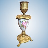Gilt Bronze And Porcelain French Candlestick