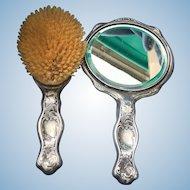 Art Nouveau Brush and Mirror set