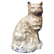 Big Hubley Cast Iron Cast Cat Doorstop