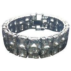 Sterling Silver Bracelet with Rhinestones