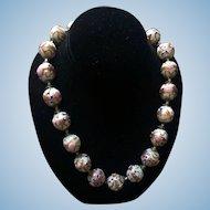Vintage Italian Venetian Beads Necklace Murano