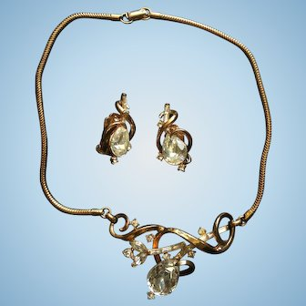 Trifari Necklace and Earrings set