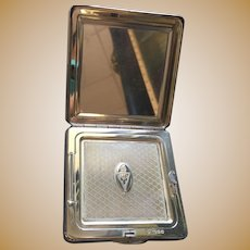 Gorgeous Sterling Acanthus Mirrored Compact Silver By
