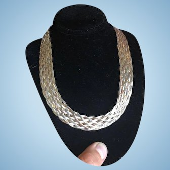 Gold Gilt Sterling Silver Italian Necklace