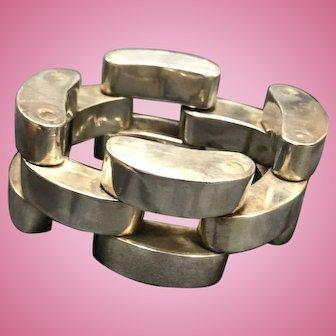 Modern Silver Link Bracelet