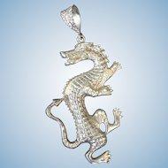 Silver Dragon Pendant 1980s