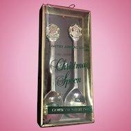 Gorham 1972  Sterling Christmas Spoons with Enamel work