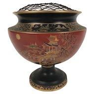 Carlton Ware Temple Pattern Art Deco Pedestal Vase