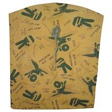 Vintage 1960's Clothespin Bag Make Love Not War