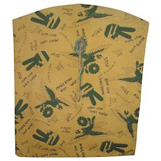 Vintage 1960's Clothespin Bag Vietnam Era