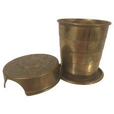Victorian Collapsible Bicycle Cup Patented Feb 23rd 1897