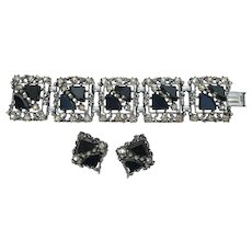 Vintage Unsigned Selro Bracelet & Earrings Set