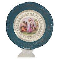 Hand Painted Austrian Porcelain Plate Kaufmann Inspired