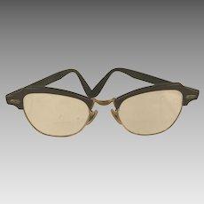 Vintage 1950's 12K Gold Filled Bausch & Lomb Cat Eye Glasses