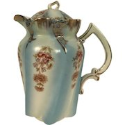 Vintage Hand Painted Bavarian Porcelain Coffee Pot