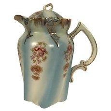 Vintage Hand Painted Bavarian Porcelain Coffee Pot