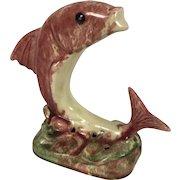 Vintage Jamieson's Capistrano Art Pottery Dolphin Flower Frog California