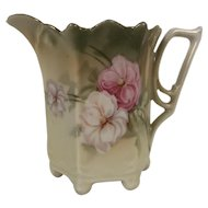 Hand Painted Porcelain Creamer Burley & Tyrrell Co Floral Pattern