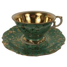 Vintage Bavarian Porcelain Demitasse Cup & Saucer