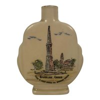 Art Deco British Cream Sherry Souvenir Bottle Banbury Cross