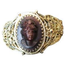 Vintage Whiting & Davis Cameo Bracelet