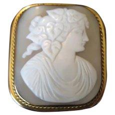 Antique Shell Cameo Pin Pendant