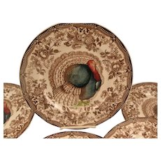 Clarice Cliff Turkey Plates